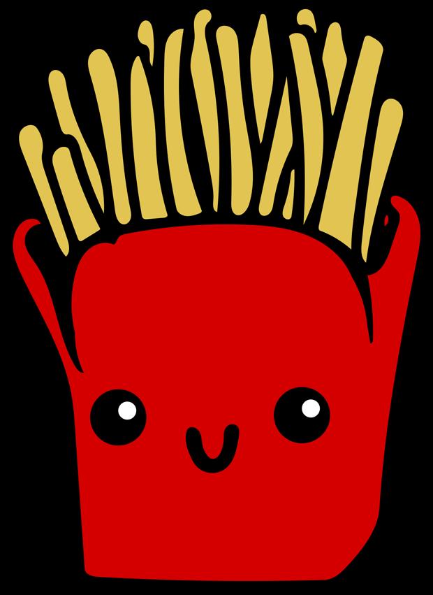 pommes frites cartoon