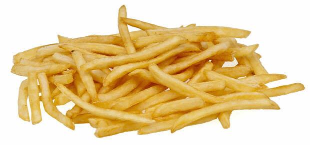 pommes frites aus der Heißluftfritteuse